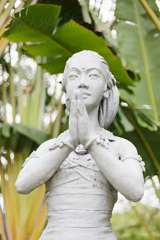 Balinese statue by Cameron Zegers for Stocksy United