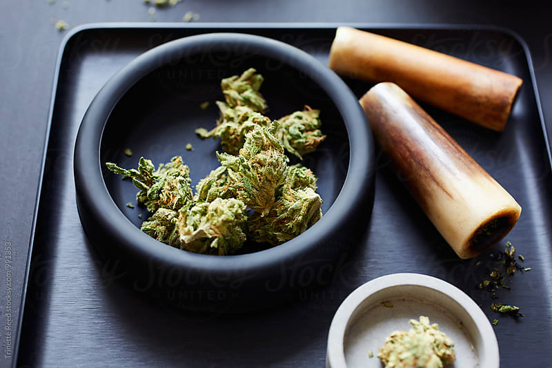 Medical Marijuana/ Cannabis and accessories by Trinette Reed for Stocksy United