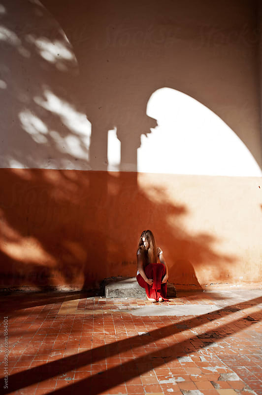 Girl and shadows by Svetlana Shchemeleva for Stocksy United
