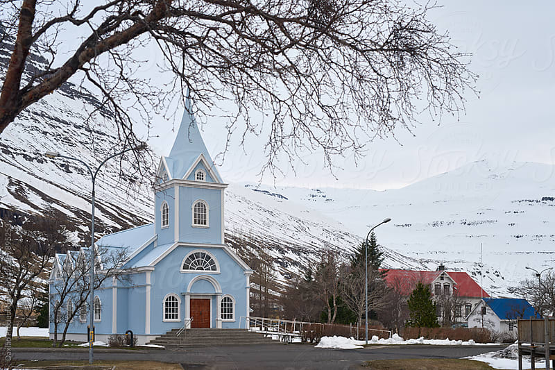 Church in iceland  by Daxiao Productions for Stocksy United
