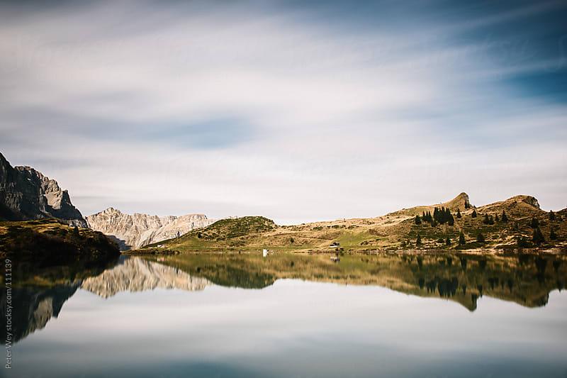 Long exposure Trüebsee mountain lake by Peter Wey for Stocksy United
