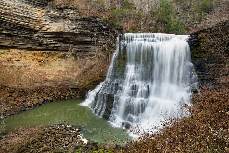Burgess Falls waterfall on the Cumberland Plateau of Tennessee by David Smart for Stocksy United