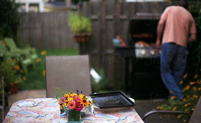 Summer Patio With Grill by ALICIA BOCK for Stocksy United