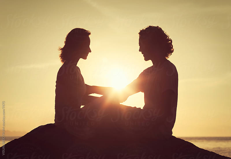 Young Romantic Couple at Sunset by VISUALSPECTRUM for Stocksy United