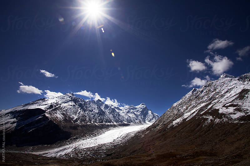 Drang Drung Glacier in ladakh at 14000 ft. by PARTHA PAL for Stocksy United