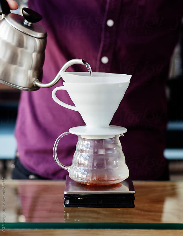 Drip coffee being brewed. by W2 Photography for Stocksy United
