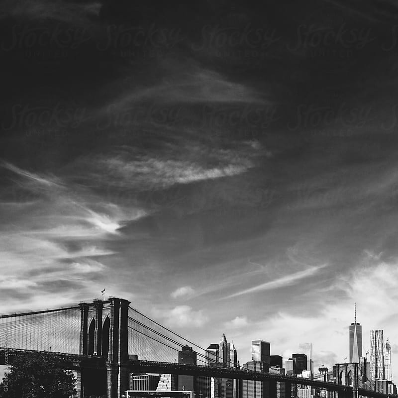 NY skyline black and white by Simone Becchetti for Stocksy United