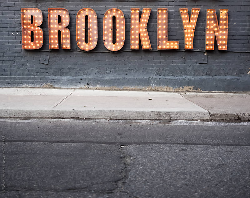 Sign Brooklyn in Lights by Studio Six for Stocksy United