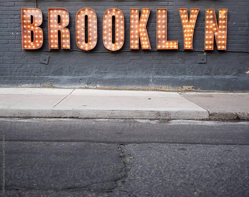 Sign Brooklyn in Lights by Jeff Wasserman for Stocksy United