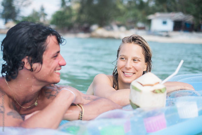 Couple in Love Enjoying the Vacation by Mosuno for Stocksy United