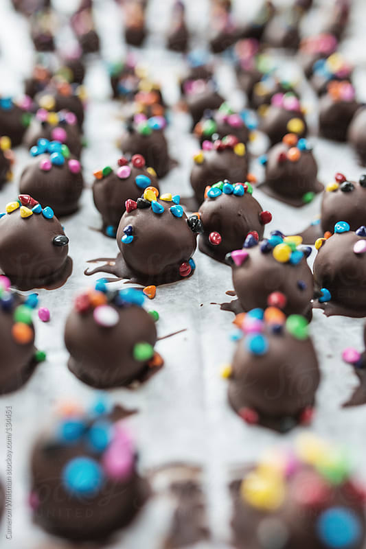 Chocolate Brownie Truffles  by Cameron Whitman for Stocksy United
