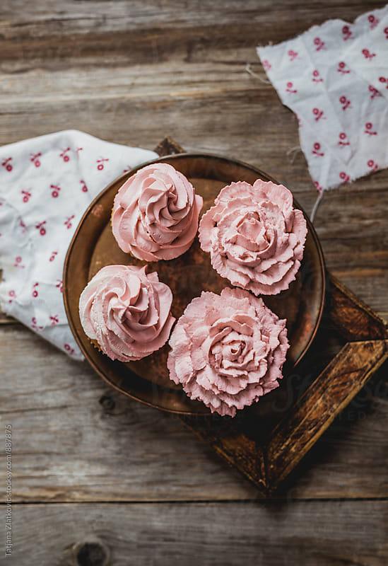 Homemade cupcakes by Tatjana Zlatkovic for Stocksy United