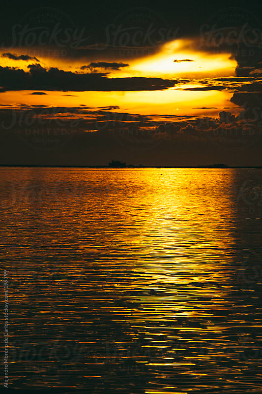 Sunset in Manila bay, Philippines by Alejandro Moreno de Carlos for Stocksy United