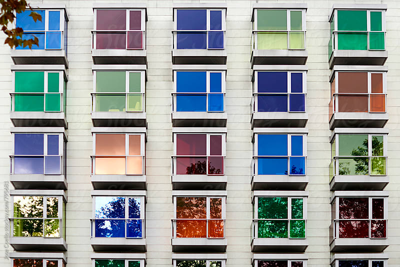 Colourful façade by Jose Coello for Stocksy United