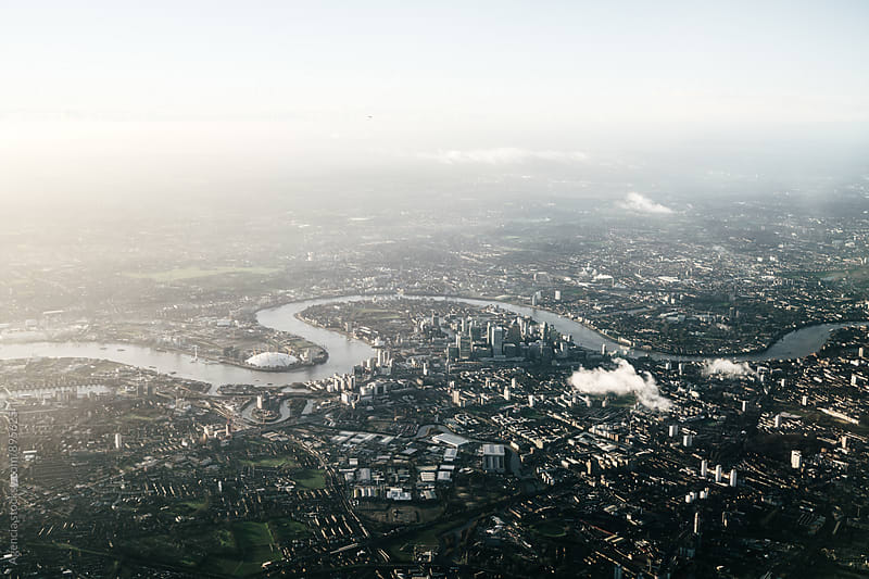 East London Aerial by Agencia for Stocksy United