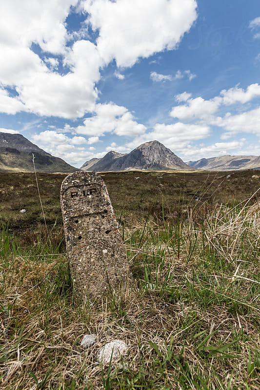 Tombstone in the Scottish Highlands by Leander Nardin for Stocksy United