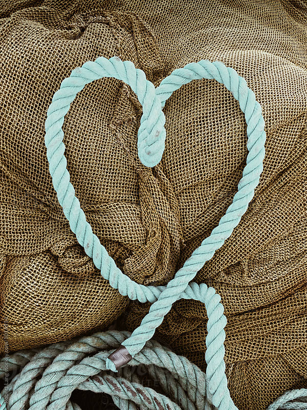 Fishing rope in a love heart by Robert Lang for Stocksy United