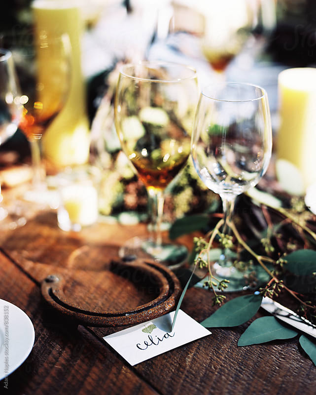 Wedding Table Details by Adam Naples for Stocksy United