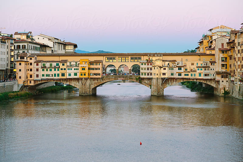 The Ponte Vecchio and the Arno by Simonfocus for Stocksy United