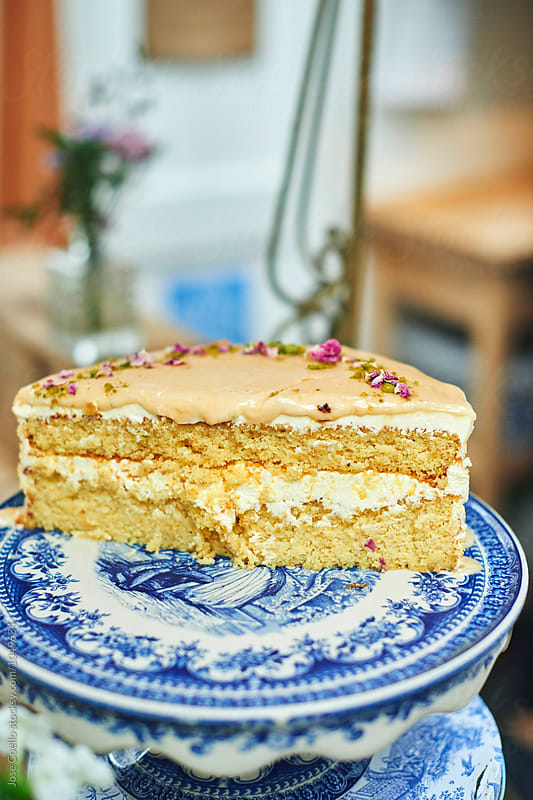 Elderflower  Cake by Jose Coello for Stocksy United