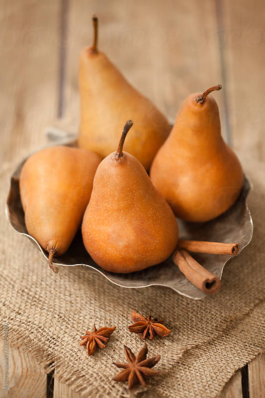 Fresh pears ready to eat. by Mosuno for Stocksy United