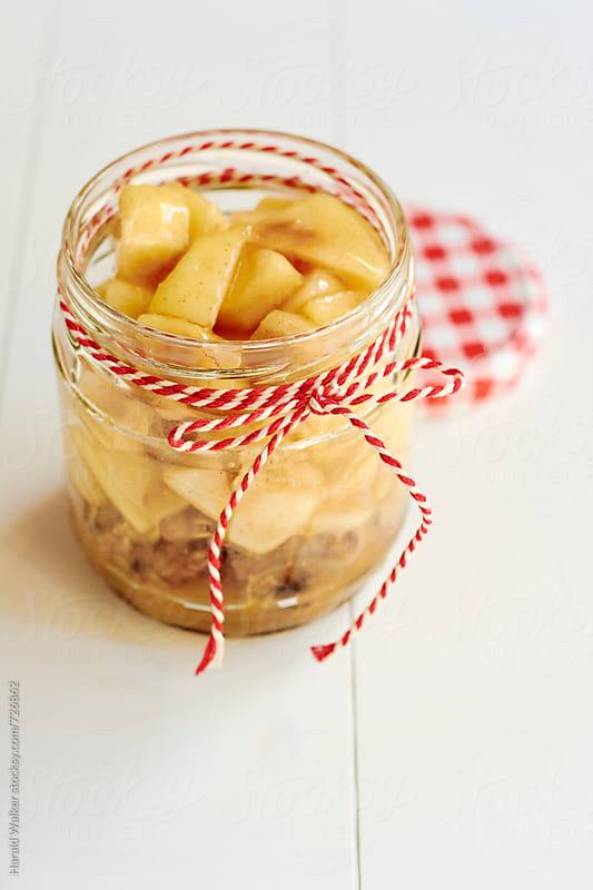 Apple Crunch in a Jar by Harald Walker for Stocksy United