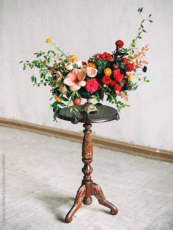 Small bouquet on stand | Stocksy United