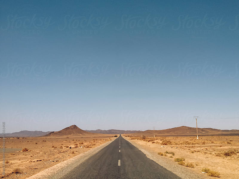 Straight desert road by Blue Collectors for Stocksy United