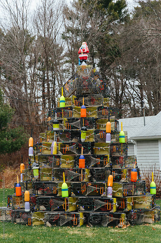 Christmas Tree made of Lobster Traps by Raymond Forbes LLC for Stocksy United