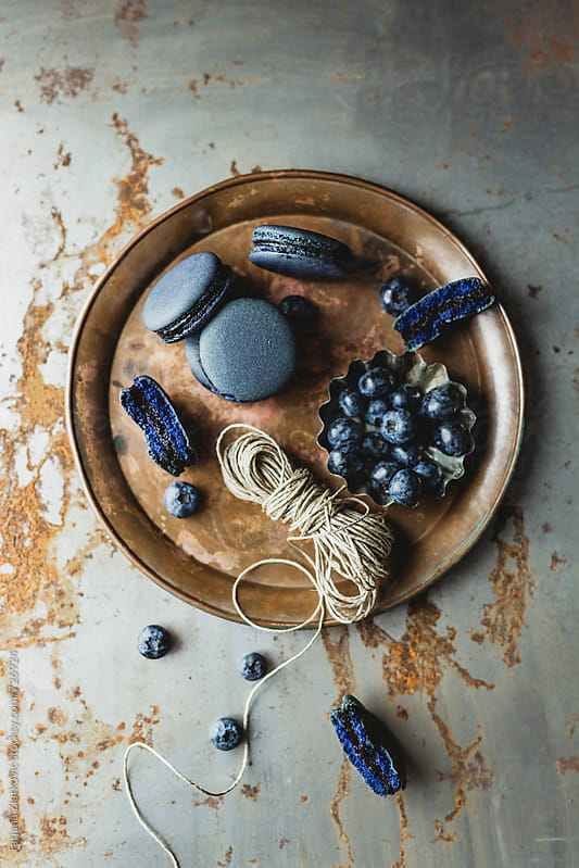 Blueberry macaroons by Tatjana Zlatkovic for Stocksy United