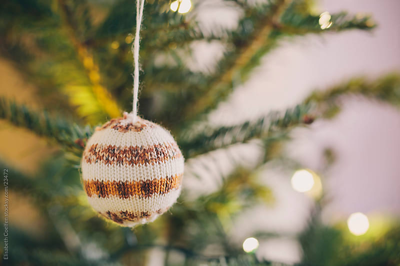 Handmade bauble decoration for the Christmas tree by Elisabeth Coelfen for Stocksy United