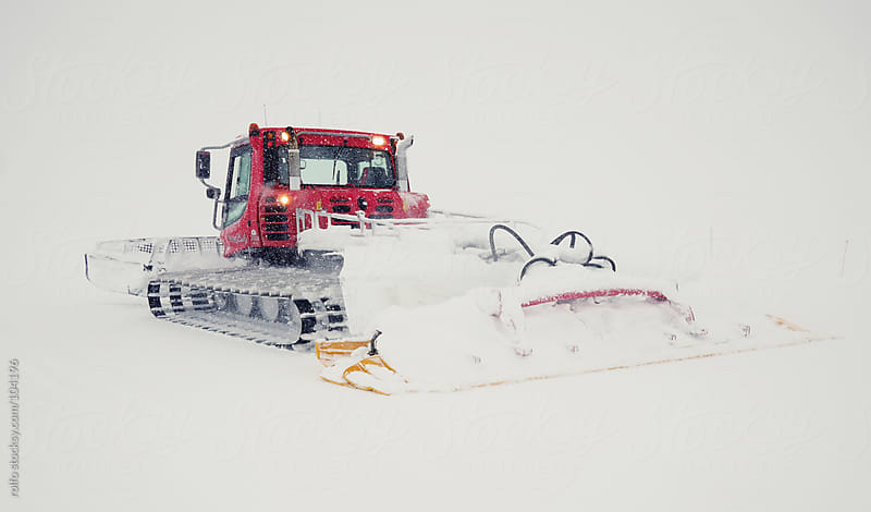 snow cat snow groomer cold snow by rolfo for Stocksy United