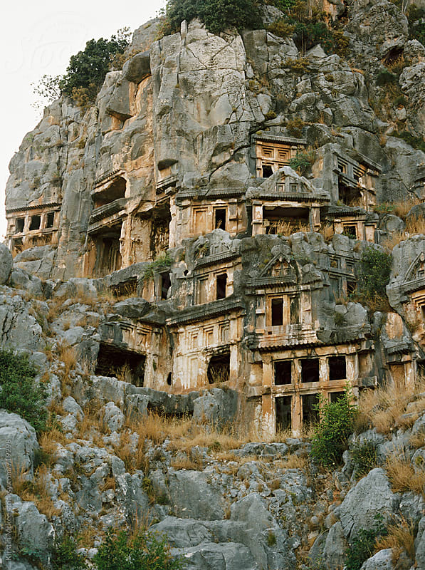 Lycian tombs at Pinara, Turkey by Kirstin Mckee for Stocksy United
