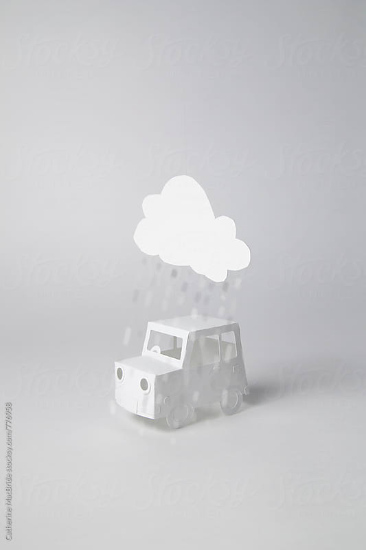 Rainy Day drive :)  by Catherine MacBride for Stocksy United
