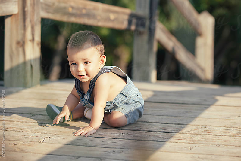 Little baby boy in the garden by CACTUS Blai Baules for Stocksy United