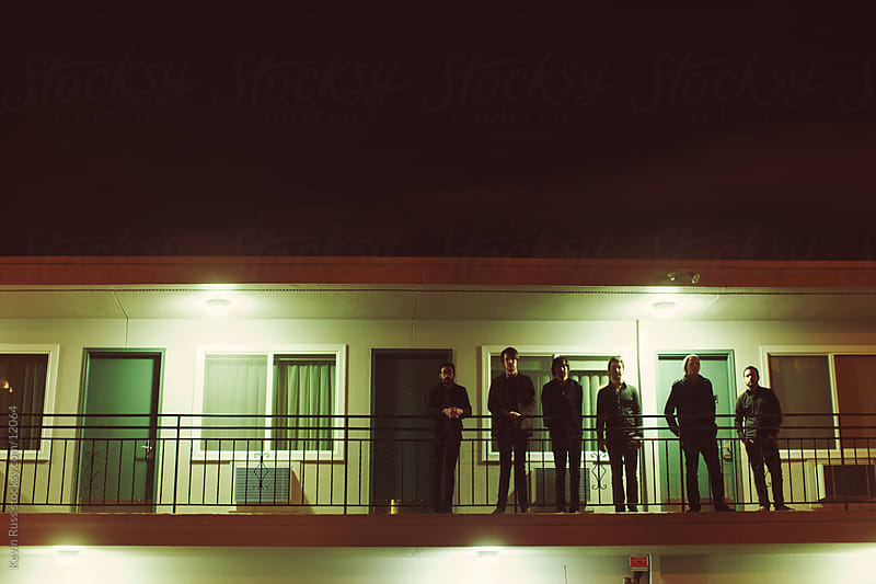 Evening Motel Porch Portrait by Kevin Russ for Stocksy United