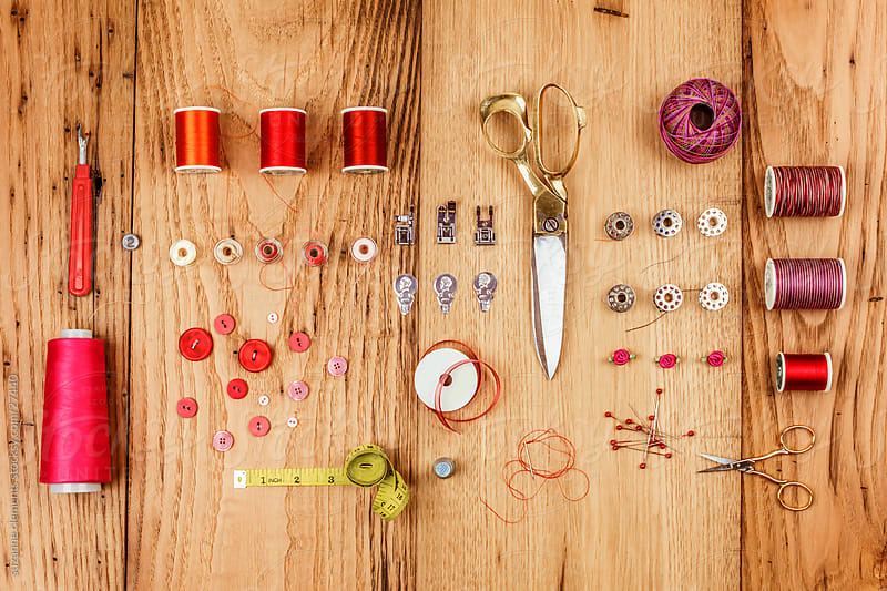 Collection of Assembled Sewing Notions  by suzanne clements for Stocksy United