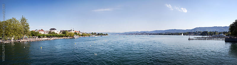 Lake Zurich  by VISUALSPECTRUM for Stocksy United