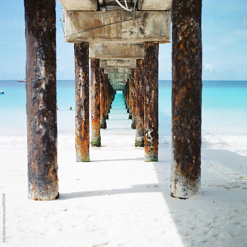 Pier in Barbados by Sam Burton for Stocksy United