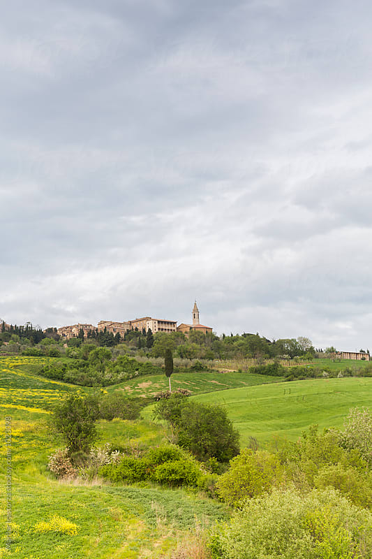 View of the renaissance town of Pienza by Marilar Irastorza for Stocksy United