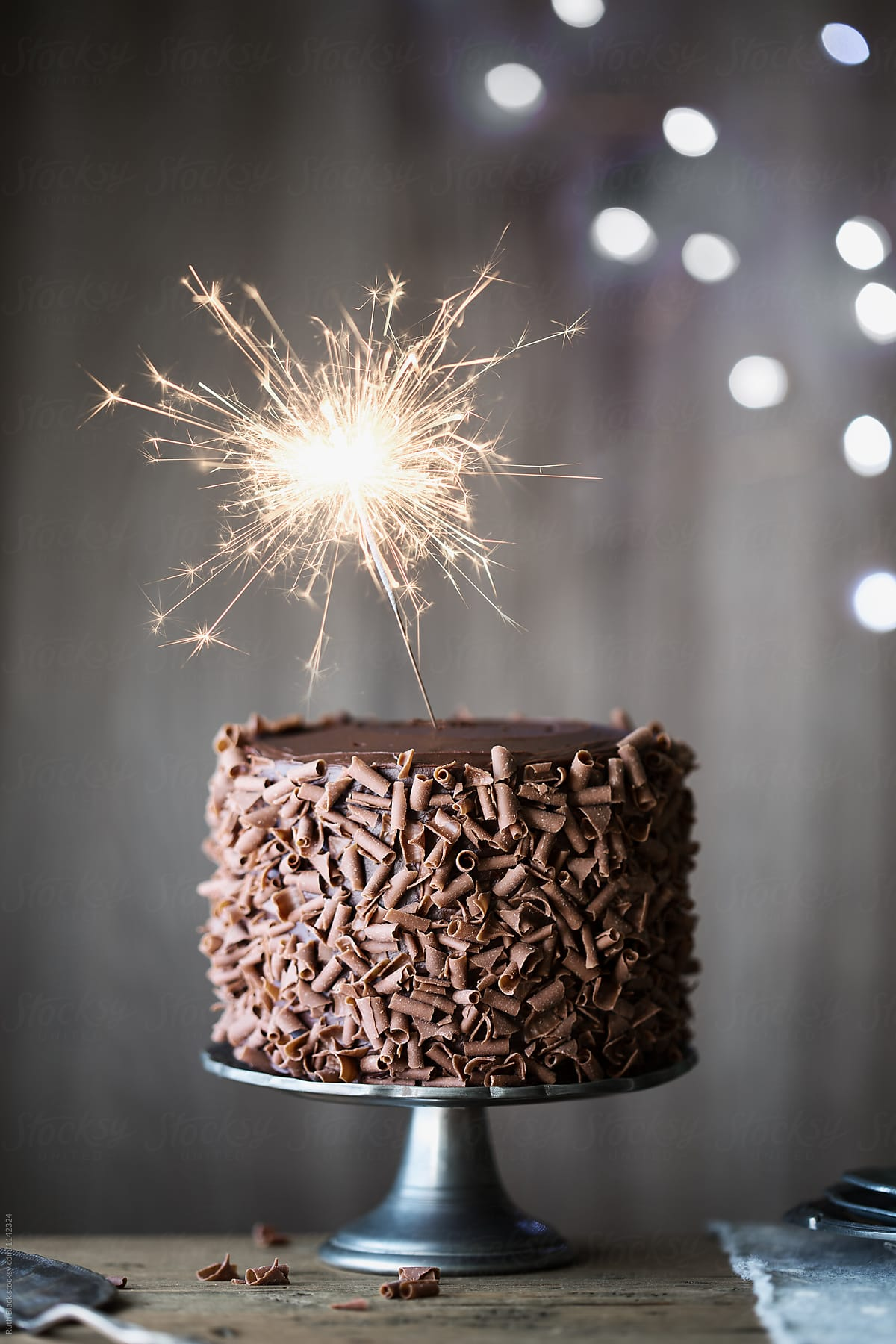Awesome Chocolate Cake With Sparkler By Ruth Black Birthday Birthday Funny Birthday Cards Online Inifodamsfinfo