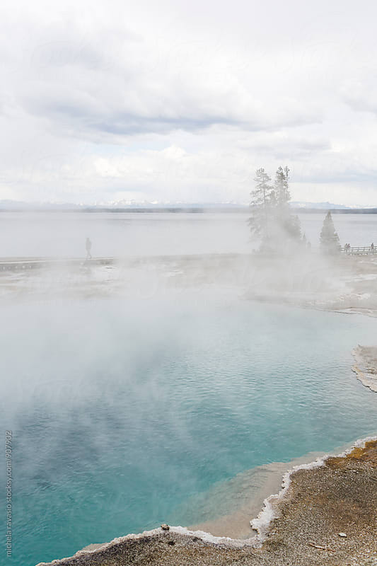 Hot spring near the Yellowstone Lake, Yellowstone National Park by michela ravasio for Stocksy United