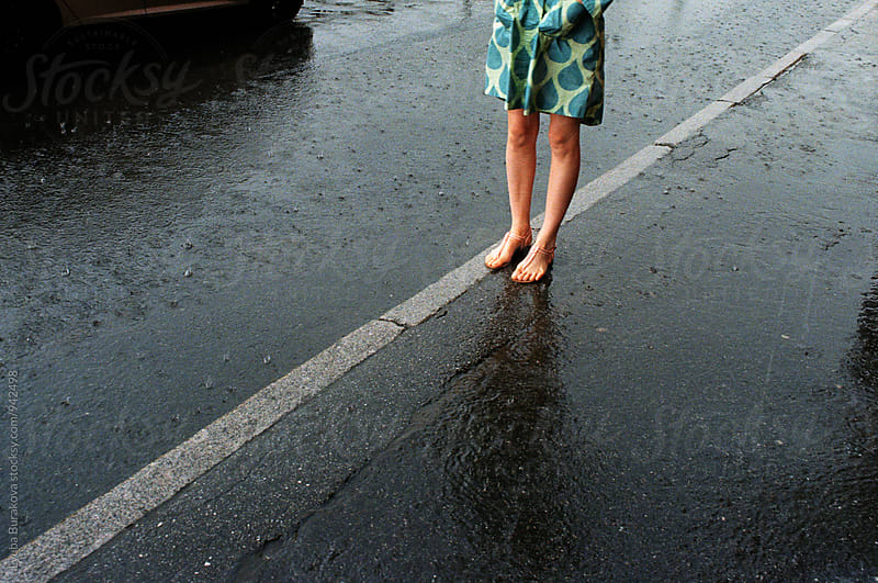 Summer rain in the city by Lyuba Burakova for Stocksy United