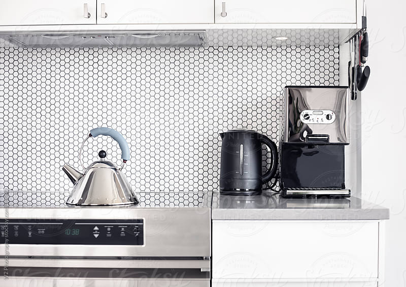 Detail of a stylish modern kitchen. by W2 Photography for Stocksy United
