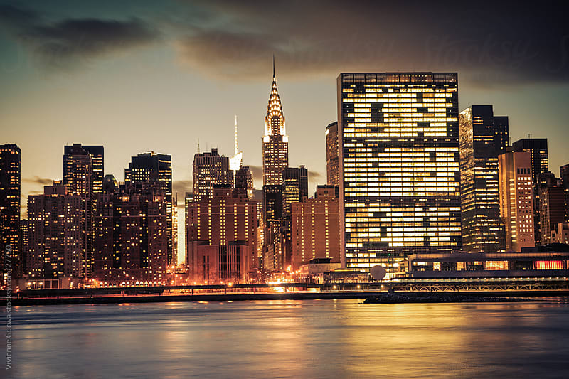 New York City Skyline - Midtown Skyscrapers and Chrysler Building by Vivienne Gucwa for Stocksy United