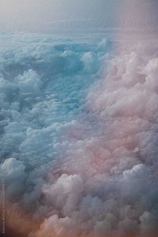 Aerial View of Pastel Clouds by Katarina Radovic for Stocksy United