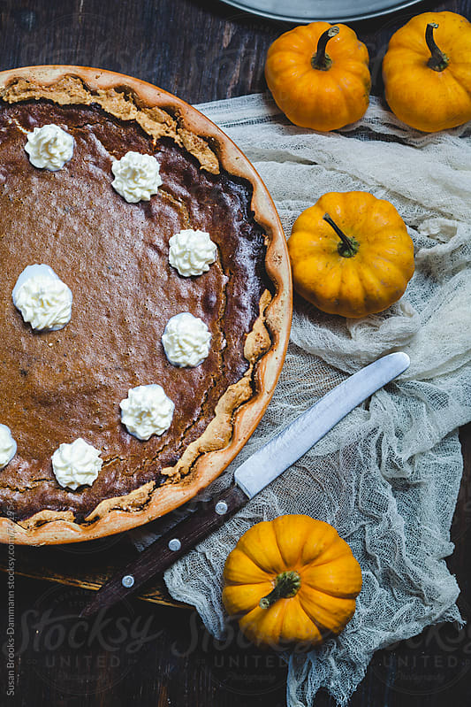 Pumpkin pie by Susan Brooks-Dammann for Stocksy United