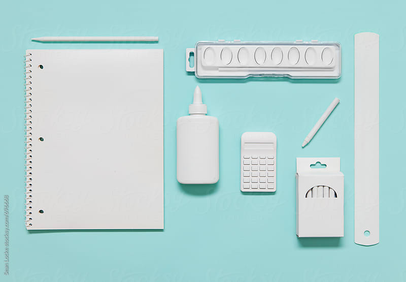 White School Supplies For A Younger Student by Sean Locke for Stocksy United