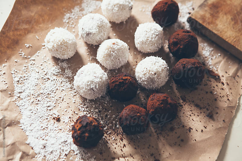 Coconut and Chocolate Balls by Lumina for Stocksy United