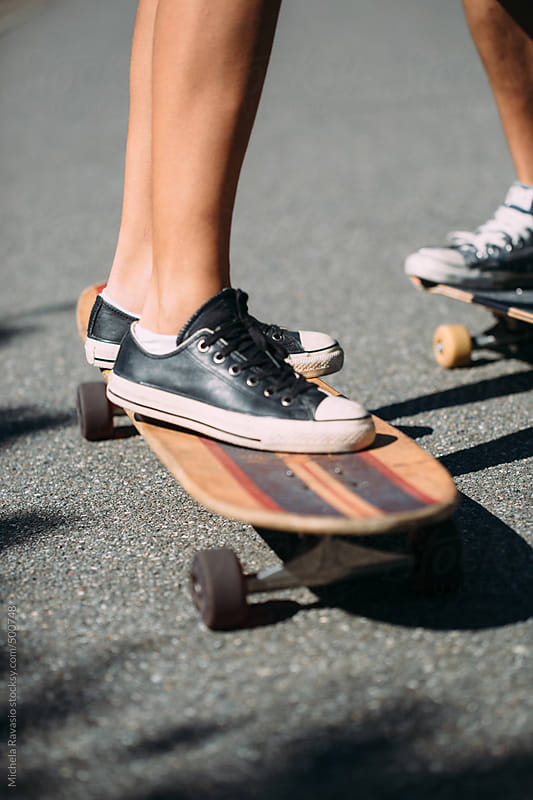 Feet and skateboards by michela ravasio for Stocksy United